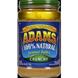 Adams, 100% Crunchy Natural Peanut Butter image